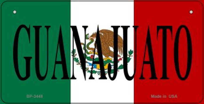 Guanajuato Mexico Flag Novelty Metal Bicycle Plate BP-3448