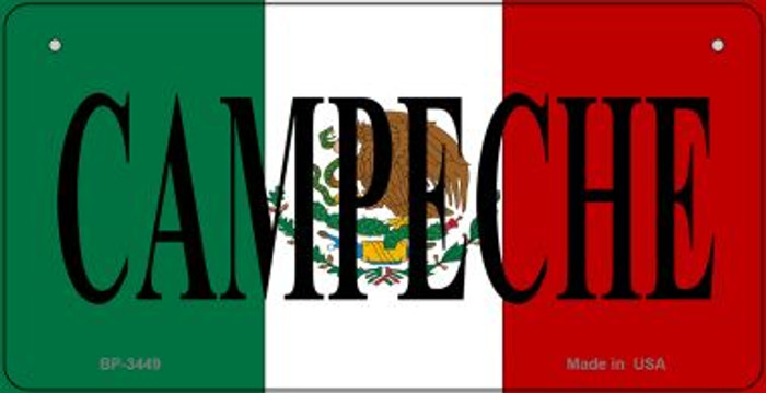 Campeche Mexico Flag Novelty Metal Bicycle Plate BP-3449