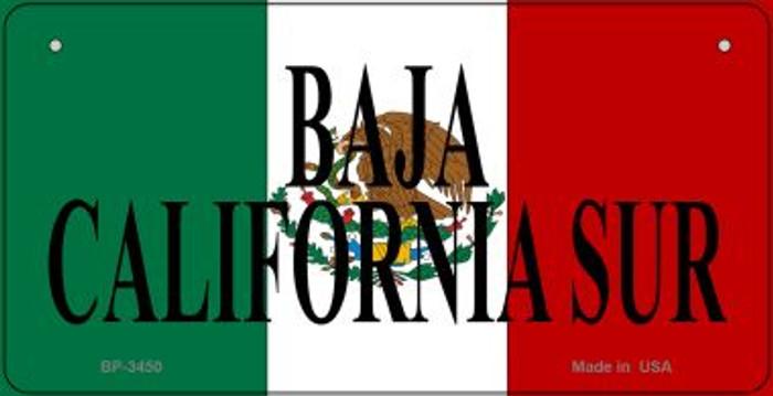 Baja California Sur Mexico Flag Novelty Metal Bicycle Plate BP-3450