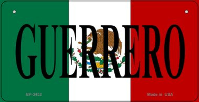 Guerrero Mexico Flag Novelty Metal Bicycle Plate BP-3452