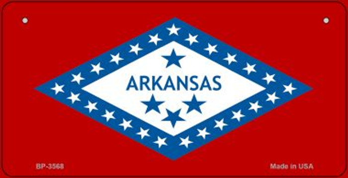 Arkansas Flag Novelty Metal Bicycle Plate BP-3568