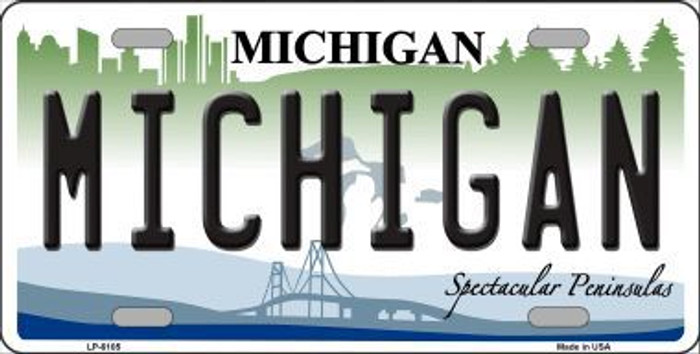Michigan Novelty Metal License Plate LP-6105