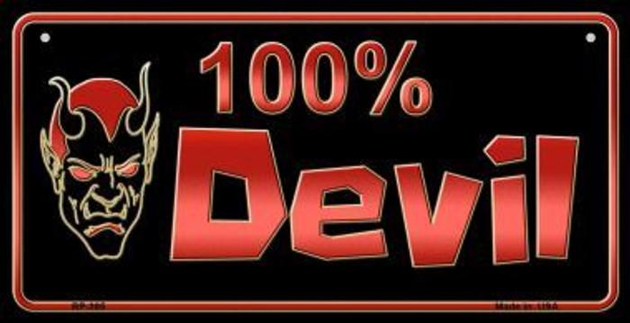 100% Devil Novelty Metal Bicycle Plate BP-365