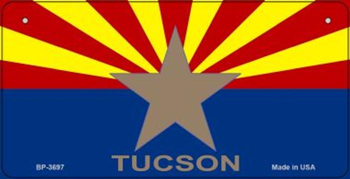 Tucson Arizona Flag Novelty Metal Bicycle Plate BP-3697