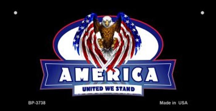 America United Novelty Metal Bicycle Plate BP-3738