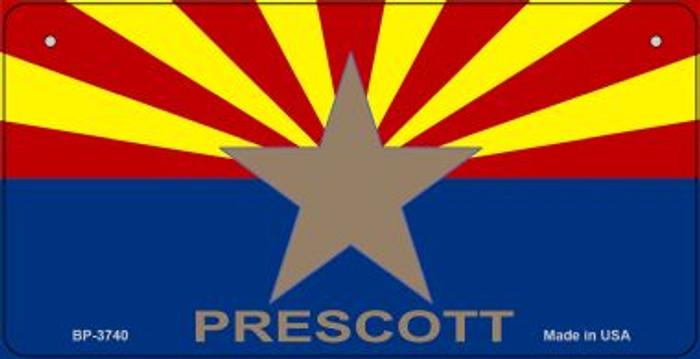 Prescott Arizona Flag Novelty Metal Bicycle Plate BP-3740