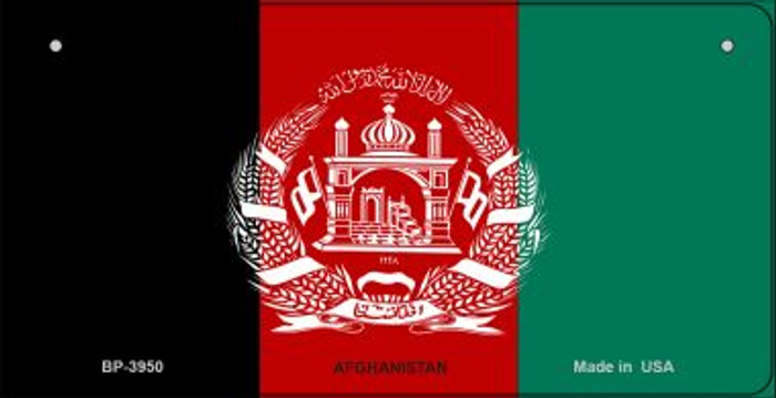 Afghanistan Flag Novelty Metal Bicycle Plate BP-3950
