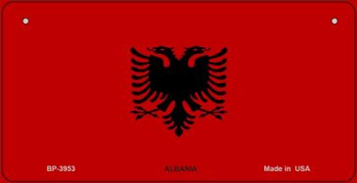 Albania Flag Novelty Metal Bicycle Plate BP-3953