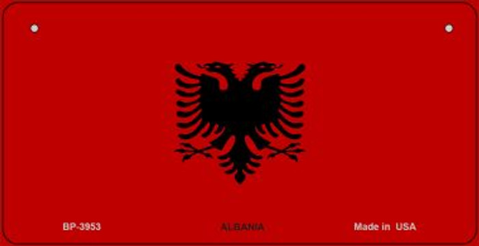 Albania Flag Novelty Metal Bicycle Plate BP-3953