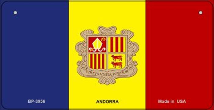 Andorra Flag Novelty Metal Bicycle Plate BP-3956