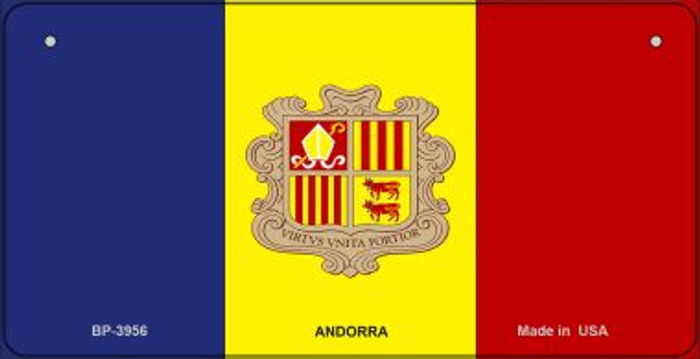 Andorra Flag Novelty Metal Bicycle Plate BP-3956