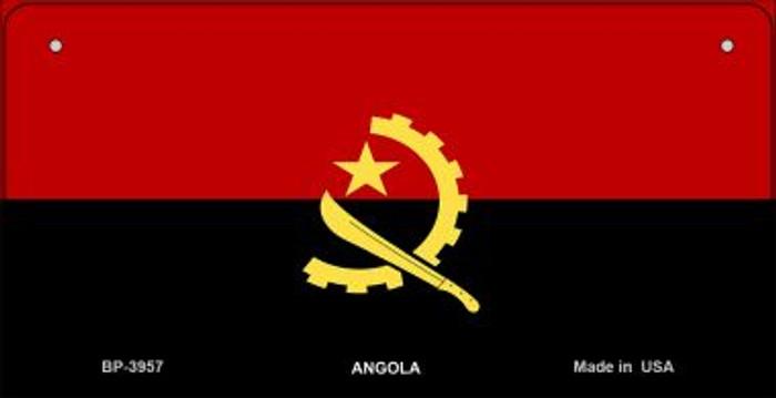 Angola Flag Novelty Metal Bicycle Plate BP-3957