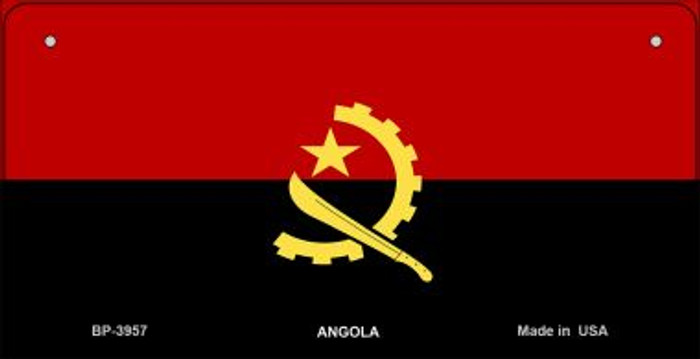 Angola Flag Novelty Metal Bicycle Plate BP-3957