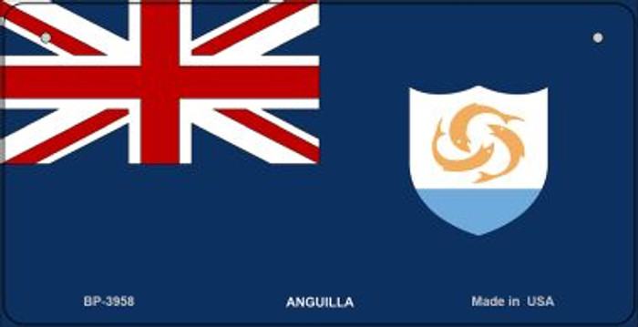 Anguilla Flag Novelty Metal Bicycle Plate BP-3958