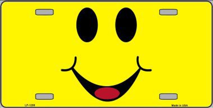 Happy Smiley Novelty Metal License Plate