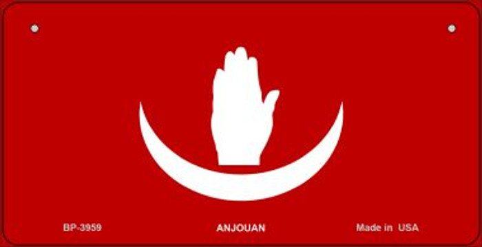 Anjouan Flag Novelty Metal Bicycle Plate BP-3959