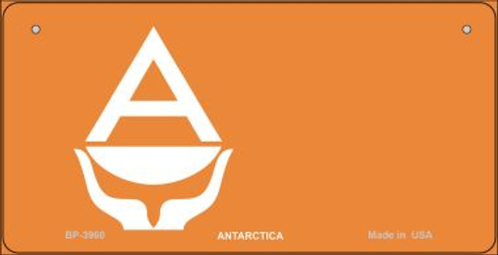 Antartica Flag Novelty Metal Bicycle Plate BP-3960
