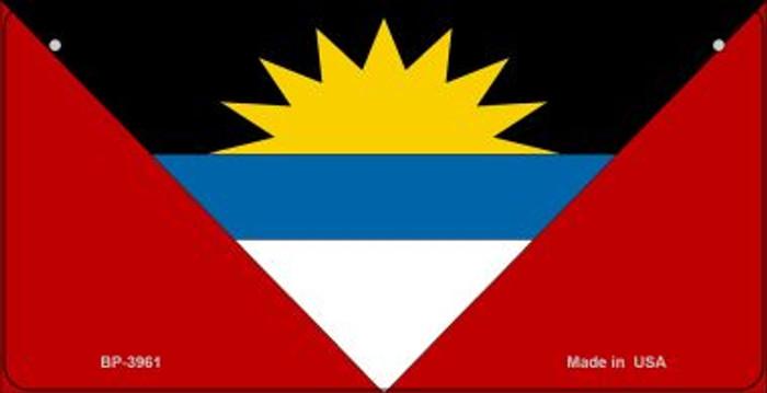 Antigua & Barbuda Flag Novelty Metal Bicycle Plate BP-3961