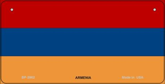 Armenia Flag Novelty Metal Bicycle Plate BP-3962