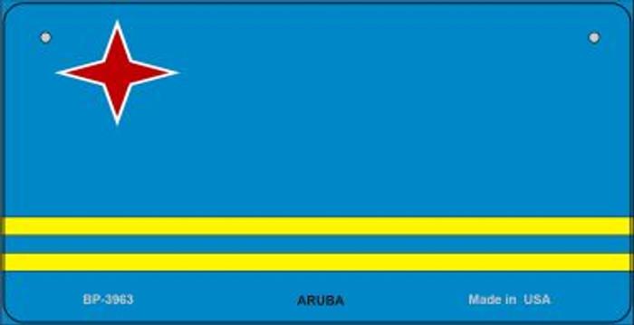 Aruba Flag Novelty Metal Bicycle Plate BP-3963