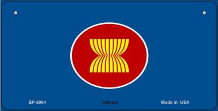 Asean Flag Novelty Metal Bicycle Plate BP-3964