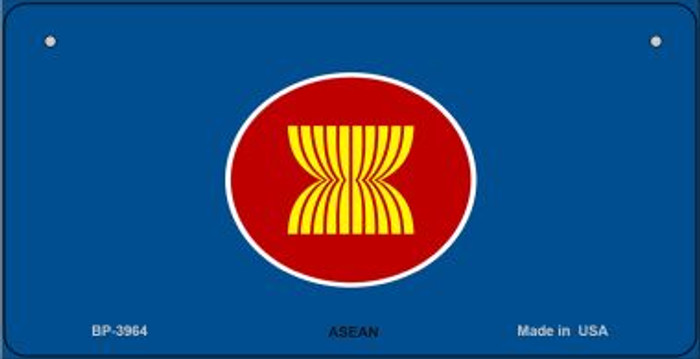 Asean Flag Novelty Metal Bicycle Plate BP-3964