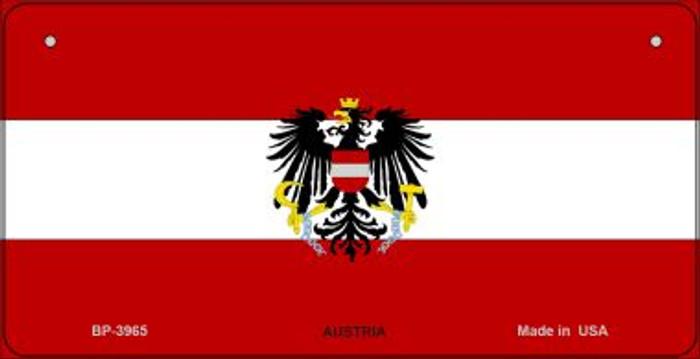 Austria Flag Novelty Metal Bicycle Plate BP-3965