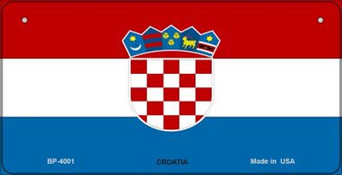 Croatia Flag Novelty Metal Bicycle Plate BP-4001