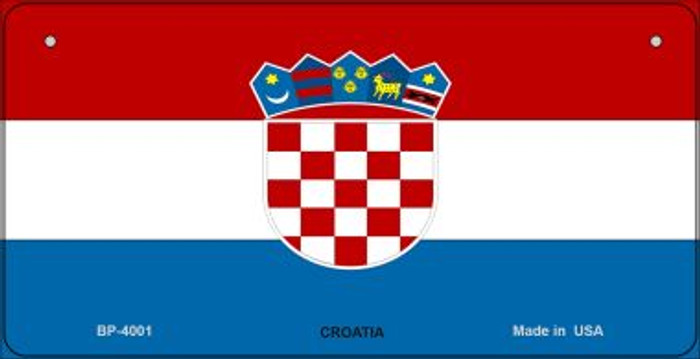 Croatia Flag Novelty Metal Bicycle Plate BP-4001
