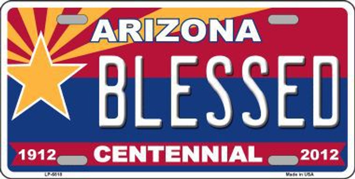 Arizona Centennial Blessed Novelty Metal License Plate LP-6818