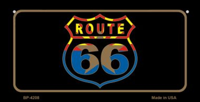 Arizona Flag Shield Route 66 Novelty Metal Bicycle Plate BP-4208