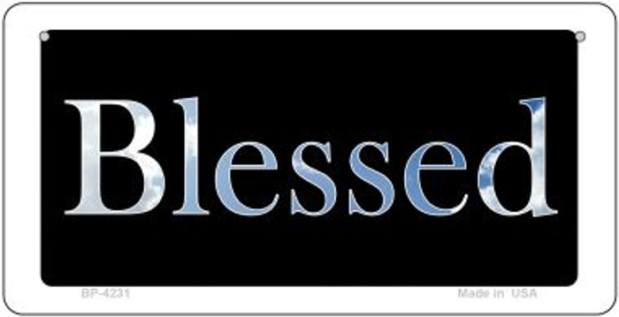 Blessed Clouds Novelty Metal Bicycle Plate BP-4231