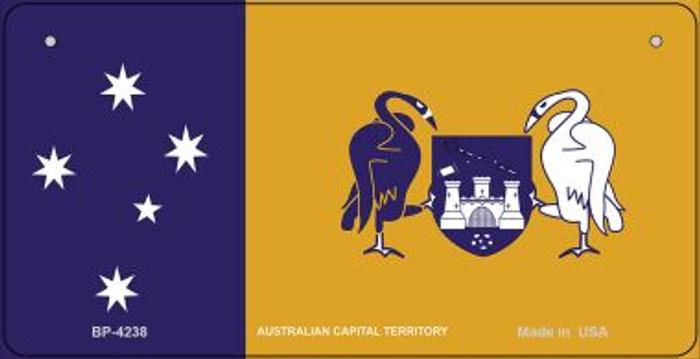 Australian Capital Flag Novelty Metal Bicycle Plate BP-4238