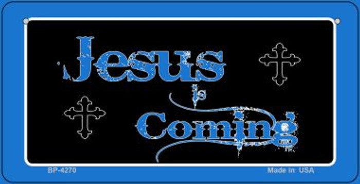 Jesus Is Coming Novelty Metal Bicycle Plate BP-4270