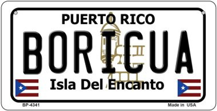 Boricua Puerto Rico State Novelty Metal Bicycle Plate BP-4341