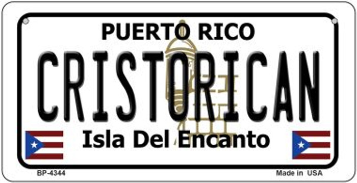 Cristorican Puerto Rico State Novelty Metal Bicycle Plate BP-4344