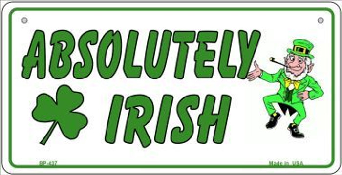 Absolutely Irish Novelty Metal Bicycle Plate BP-437