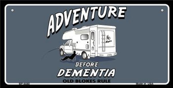 Adventure Before Dementia Novelty Metal Bicycle Plate BP-4440