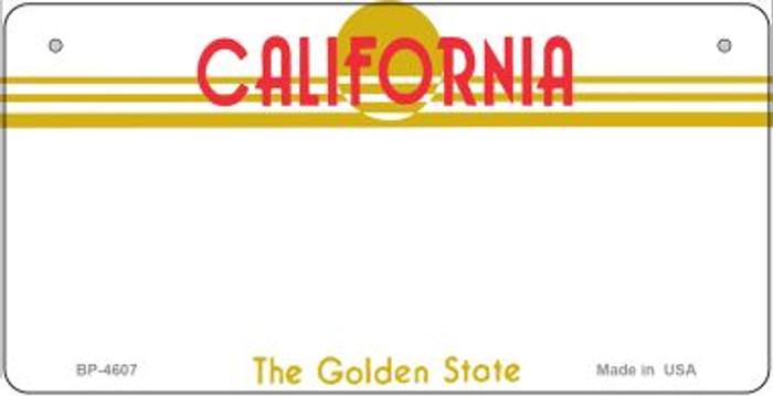 California Blank Novelty Metal Bicycle Plate BP-4607