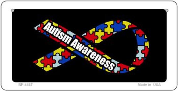 Autism Awareness Ribbon Novelty Metal Bicycle Plate BP-4667