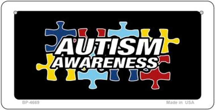 Autism Awareness Puzzle Novelty Metal Bicycle Plate BP-4669