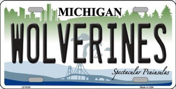 Michigan Wolverines Metal Novelty License Plate LP-6108