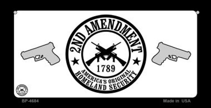 2nd Amendment Novelty Metal Bicycle Plate BP-4684