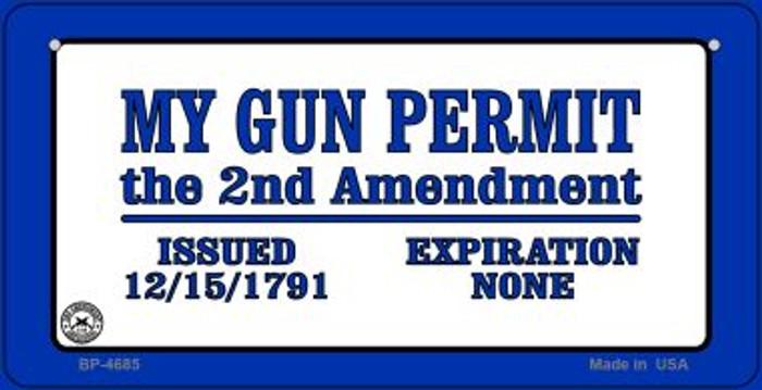 My Gun Permit Novelty Metal Bicycle Plate BP-4685