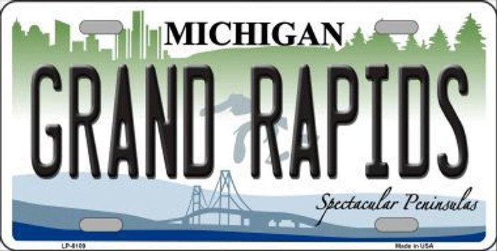 Grand Rapids Michigan Metal Novelty License Plate LP-6109