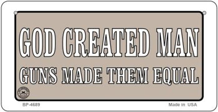 God Created Man Novelty Metal Bicycle Plate BP-4689