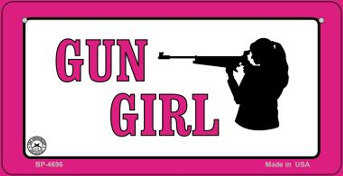 Gun Girl Novelty Metal Bicycle Plate BP-4696
