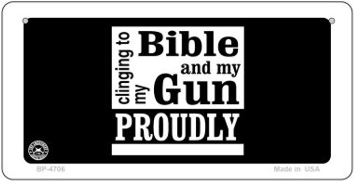 Clinging To My Bible Novelty Metal Bicycle Plate BP-4706