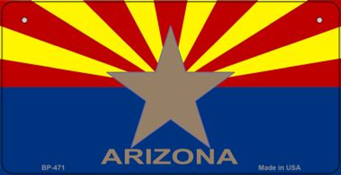 Arizona Big Star Flag Novelty Metal Bicycle Plate BP-471