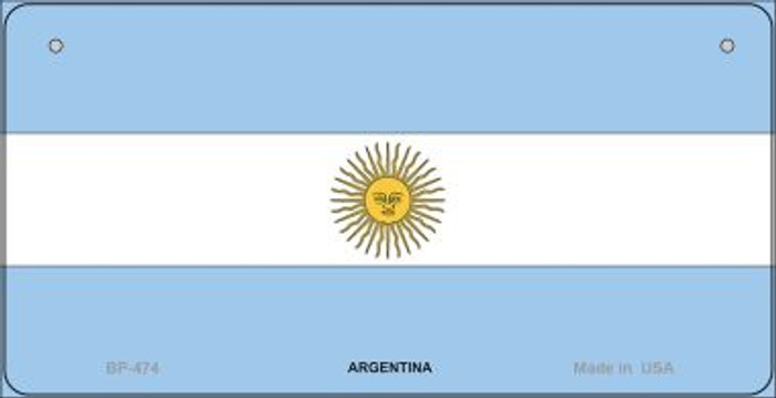 Argentina Flag Novelty Metal Bicycle Plate BP-474